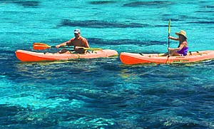 Kayaking the paradise islands in Anambas