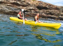 Anambas' sea water tend to be flat, making it ideal kayaking territory